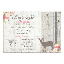 Deer Girl Baby Shower Invitation