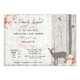 Deer Girl Baby Shower Invitation