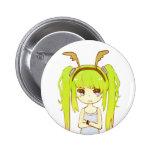 Deer Girl Button Badge