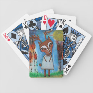 Deer Girl Playing Cards