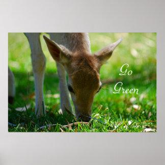 Deer go green poster
