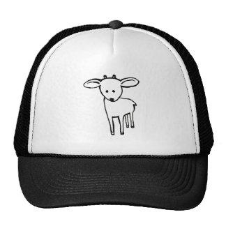 Deer? Goat? Cute little horned animal line art Trucker Hat