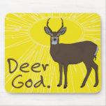 Deer God Mouse Pads