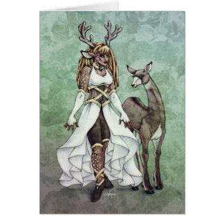 Deer Goddess Fantasy Art Card