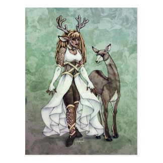 Deer Goddess Fantasy Art Postcard