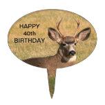 Deer Grass Birthday Cake Topper