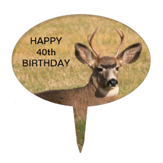 Deer Grass Birthday Cake Topper