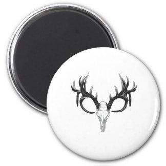 Deer head 2 inch round magnet