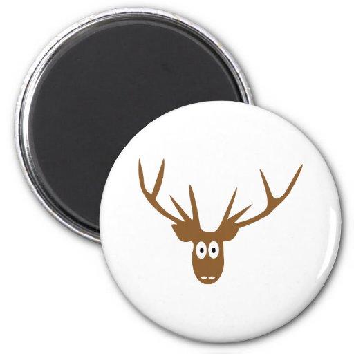 deer head antler 2 inch round magnet