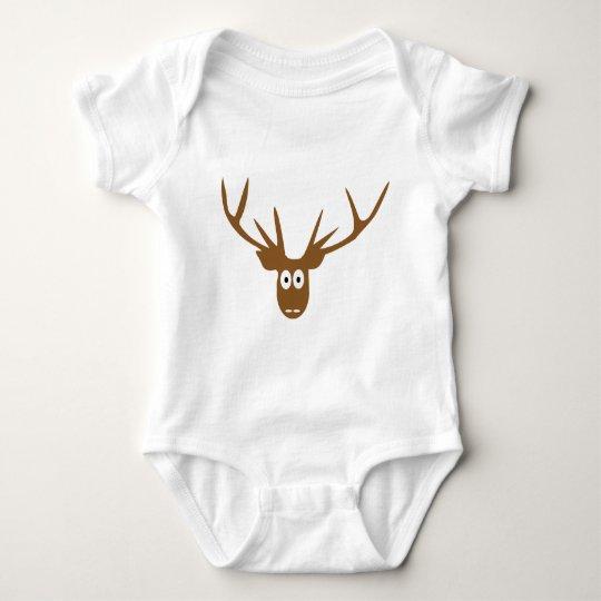 deer head antler baby bodysuit