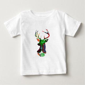 deer head antler christmas holiday modern colors shirt
