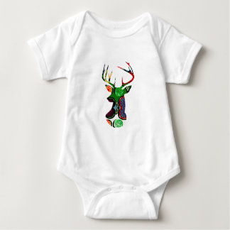 deer head antler christmas holiday modern colors t-shirt