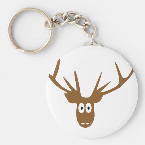 deer head antler key chain