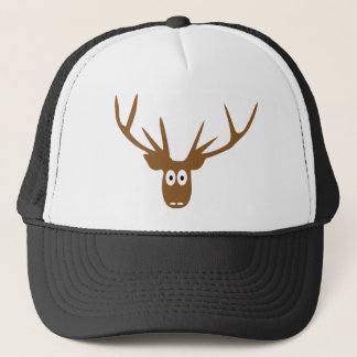 deer head antler trucker hat