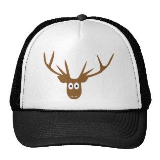 deer head antler trucker hat