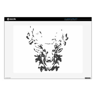 Deer Head Antlers Decal For Laptop