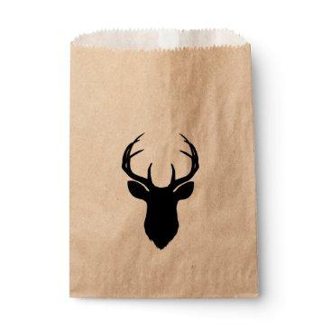 USA Themed Deer Head Antlers Rustic Country Modern Favor Favor Bag
