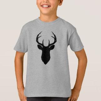 Deer Head Antlers Rustic Country Modern T-Shirt