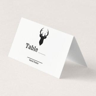 Deer Head Antlers Rustic Wedding Table Seat Place Place Card