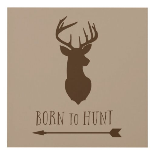 Deer Head Buck Arrows Nursery Wall Art