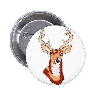 Deer Head Button