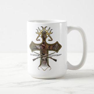 Deer Head Cross by Dixie Livin' Coffee Mug