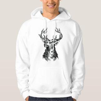 Deer Head Drawing Hoodie