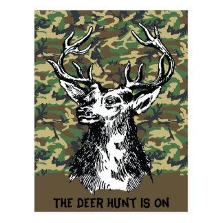 Deer Head Drawing Postcard