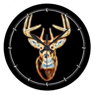 Deer Head Energy Spirited Large Clock