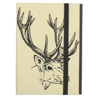 Deer Head Illustration Graphic iPad Air Cover