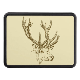 Deer Head Illustration Graphic Hitch Covers