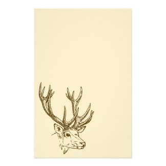 Deer Head Illustration Graphic Stationery