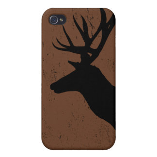 Deer head in side profile silhouette covers for iPhone 4