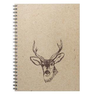 deer head ink stamped journal