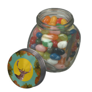 Deer head jelly belly candy jar