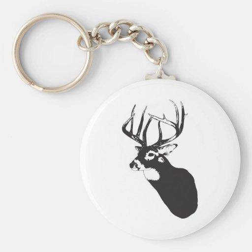 Deer Head Key Chain