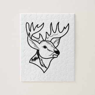 Deer Head Outline Jigsaw Puzzle