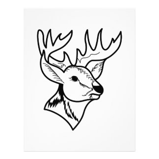 Deer Head Outline Letterhead