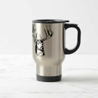 Deer Head Outline Travel Mug