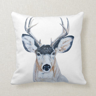 Deer Head Pillow