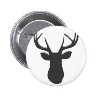 Deer Head Pinback Button