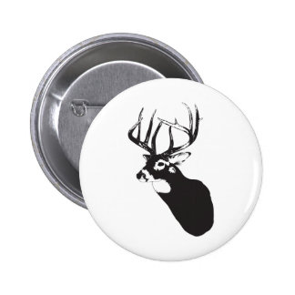 Deer Head Pinback Button