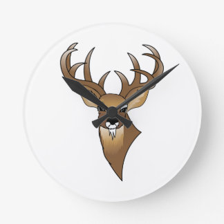 Deer head round clock