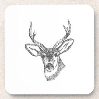 Deer Head Sketch Coaster