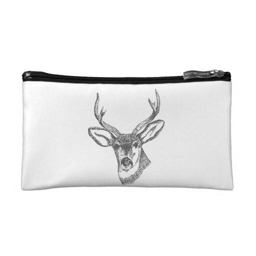 Deer Head Sketch Makeup Bag