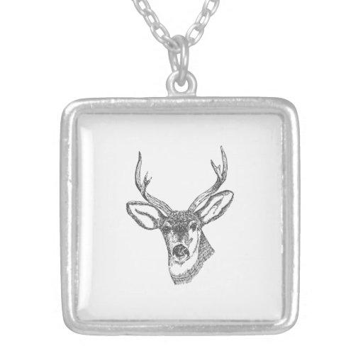 Deer Head Sketch Necklaces