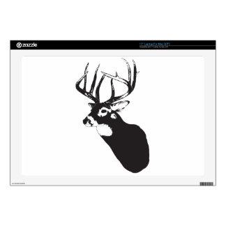 """Deer Head Decals For 17"""" Laptops"""