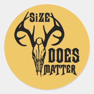 Deer Head Skull Size Does Matter Classic Round Sticker