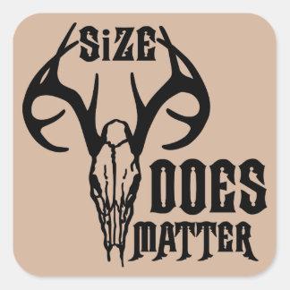 Deer Head Skull Size Does Matter Square Sticker