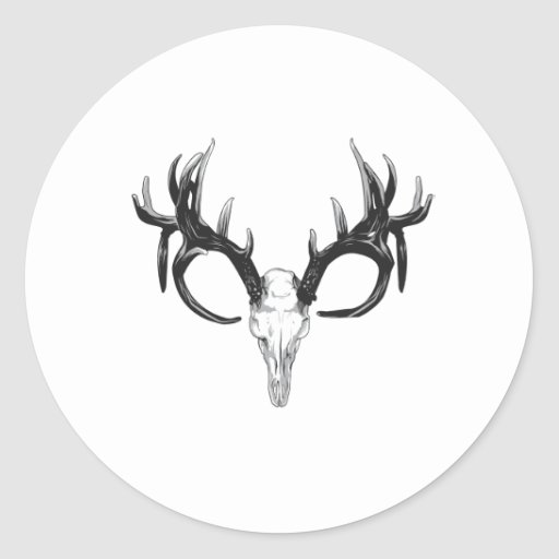 Deer head stickers